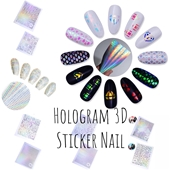 12 Sheets Holographic 3D Nail Sticker