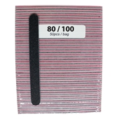 Medium File Pink 80/100 (Black Sand - 50cts)