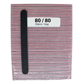 Medium File Pink 80/80 (Black Sand- 50cts)