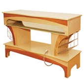 Nail Dryer Table - Yellow Wood