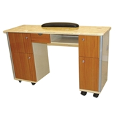 Nail Table Yellow Wood Color (Marble Top Yellow)