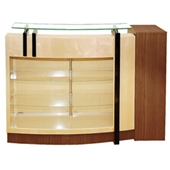 Reception Desk - Brown Wood