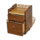 Spa Cart Trolley - Brown Wood