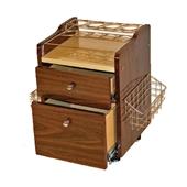 Spa Cart Trolley - Brown Wood